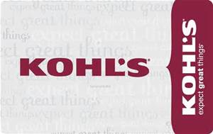 Kohl's Credit Card & Gift Cards